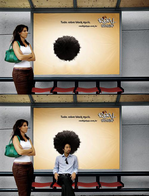 Clever bus stop advertising
